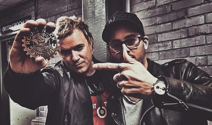 Nezumi Studios founder David Campo with fellow Roughneck Brigade member Liam Howlett