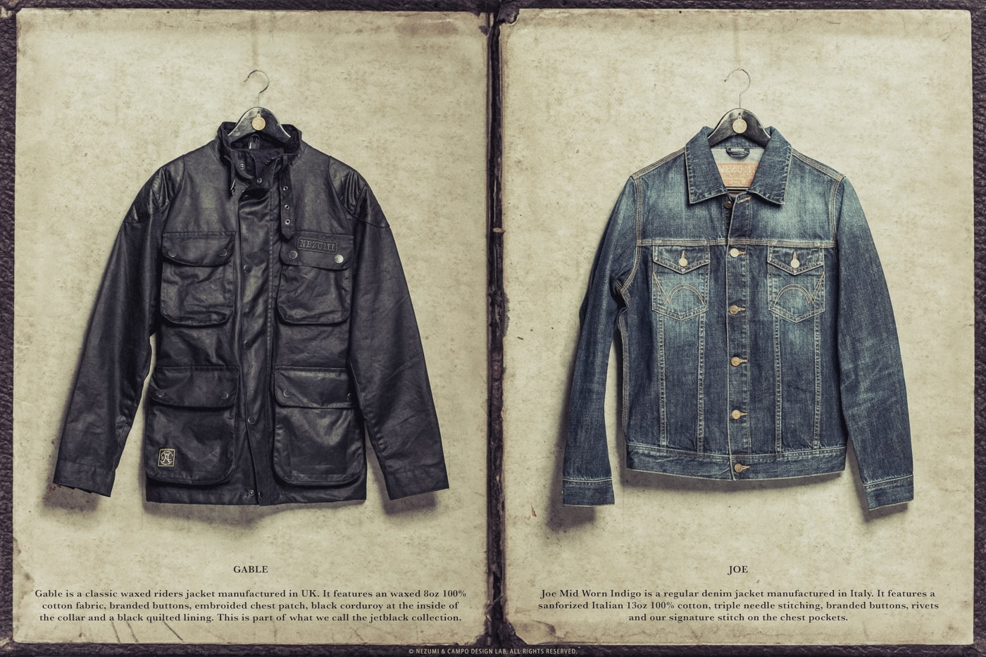 Nezumi Studios denim and wax coat apparel clothing collection