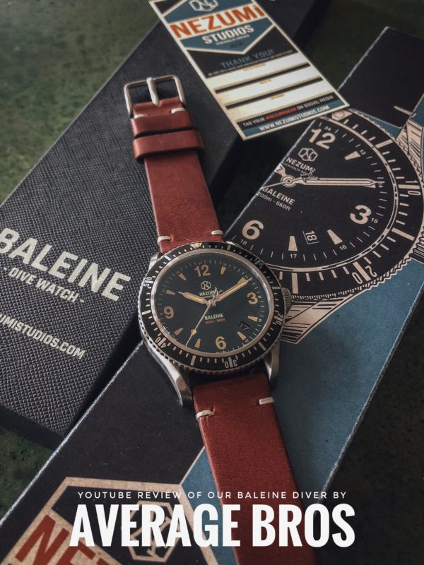 Nezumi Studios Baleine dive watch YouTube review by Average Bros