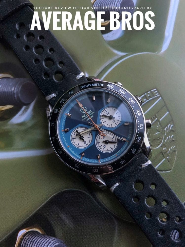 Nezumi Studios Voiture racing chronograph YouTube watch review by Average Bros