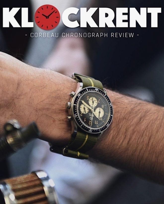Nezumi Studios Corbeau aviation chronograph watch review by Klockrent