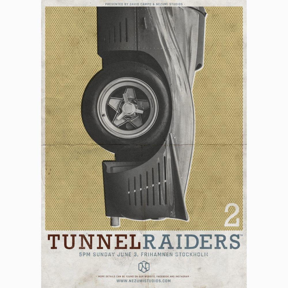 Tunnel Raiders , a David Campo and Nezumi Studios classic sportscar event