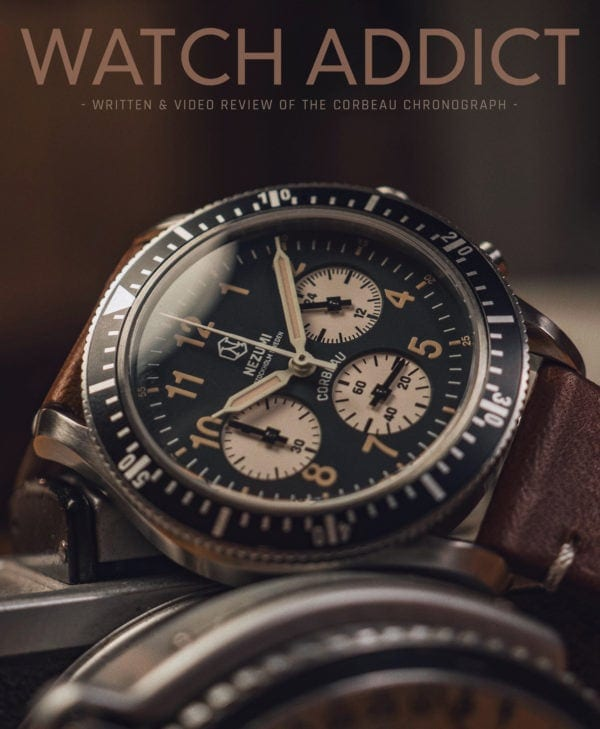 Nezumi Studios Corbeau aviation chronograph YouTube watch review by Watch Addiction
