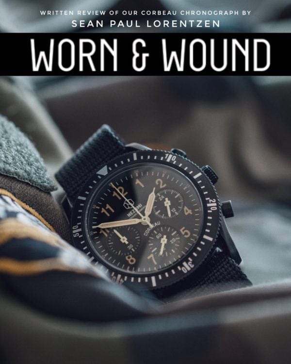 Nezumi Studios Corbeau aviation chronograph watch review by Worn and Wound
