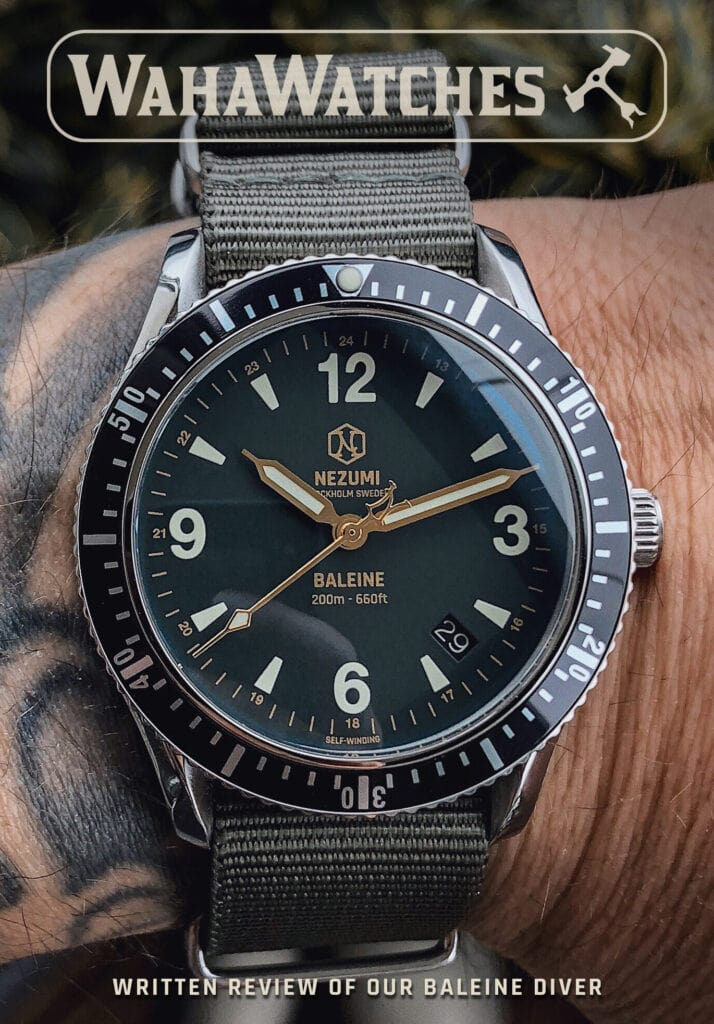 Nezumi Studios Baleine dive watch review by Waha Watches