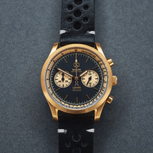 Nezumi Studios Specials Watch Loews racing chronograph with leather strap