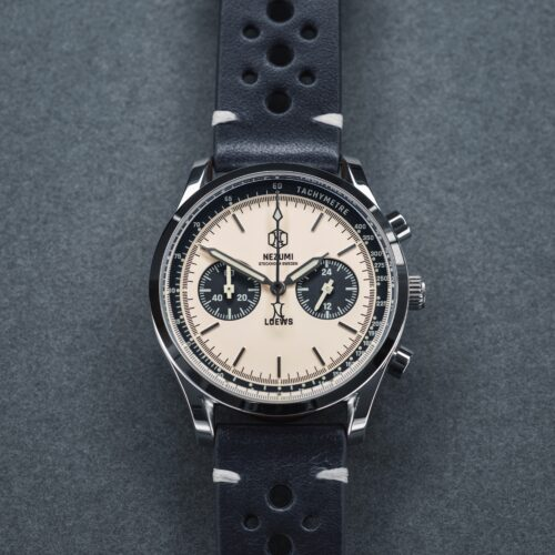 Nezumi Studios Watch Loews racing chronograph with leather strap