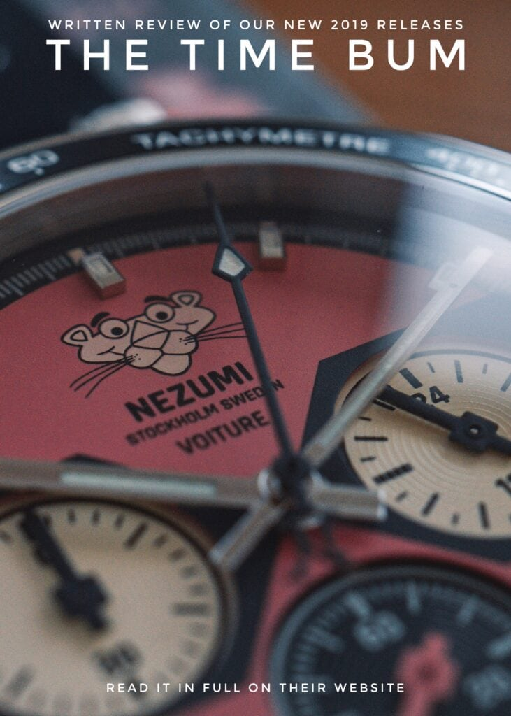 Nezumi Studios Specials Watch Pink Panther Voiture racing chronograph review by The Time Bum