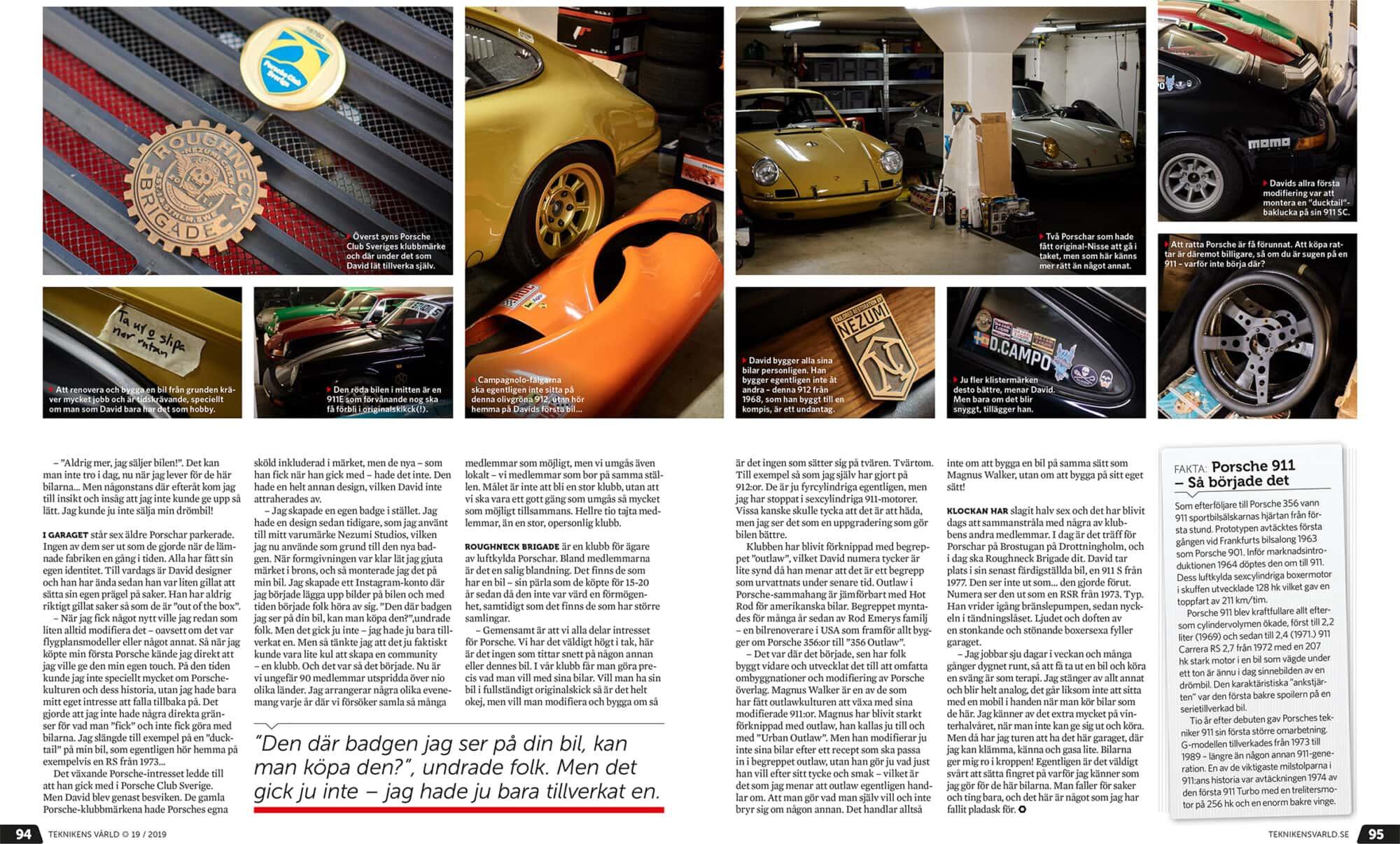 Roughneck Brigade a classic Porsche club by Nezumi Studios
