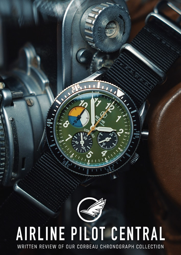 Nezumi Studios Watch Corbeau military chronograph with nato strap