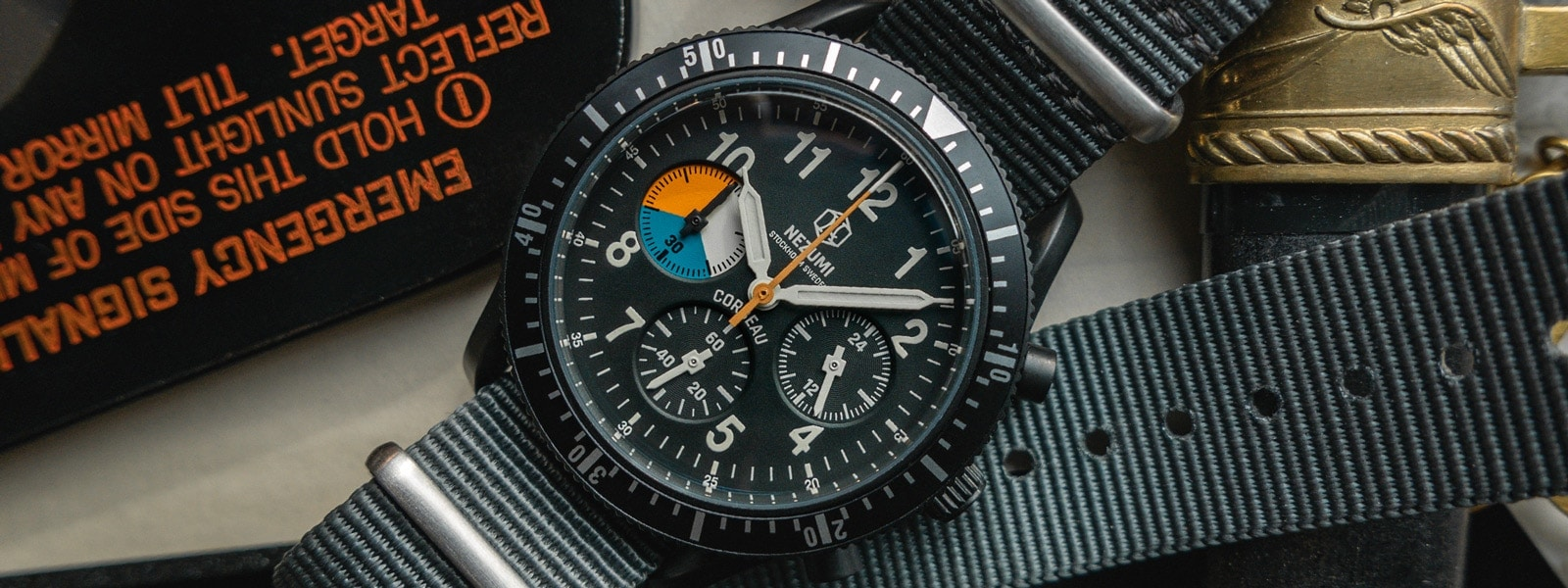 Nezumi Studios Watch Corbeau CQ2.333 military chronograph with nato strap