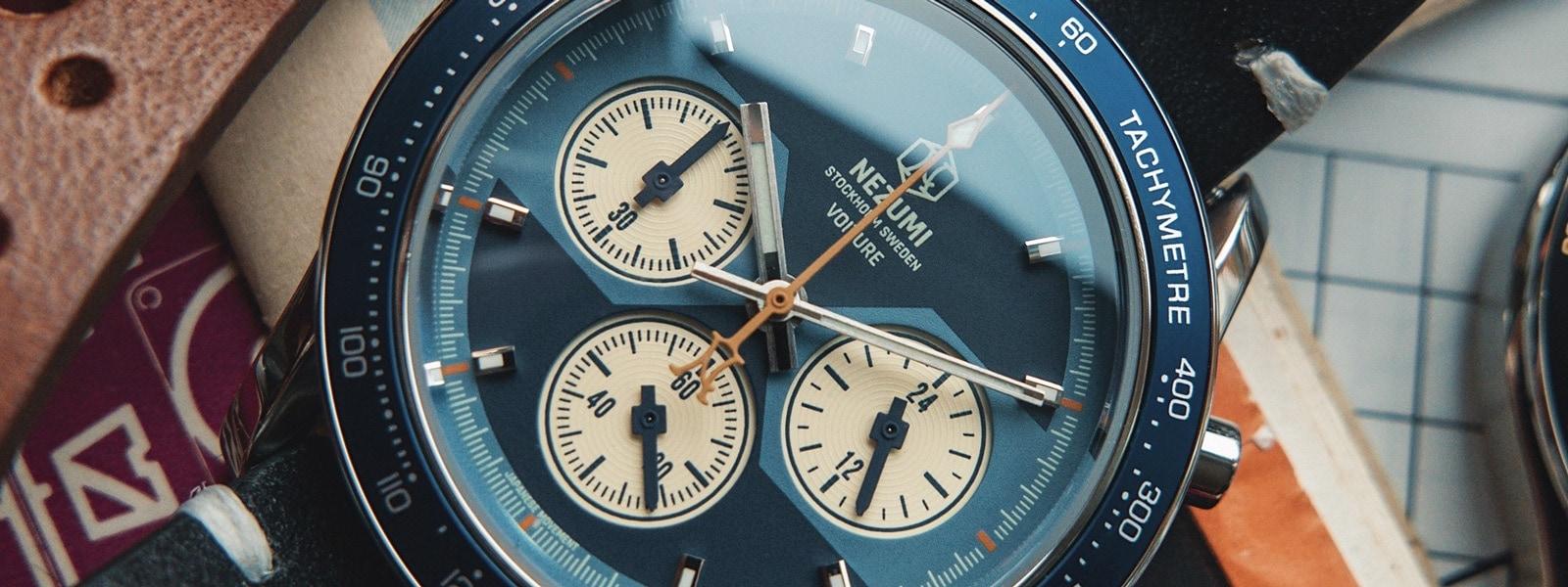 Voiture racing chronograph ref. VQ2. 601 watch by Nezumi Studios