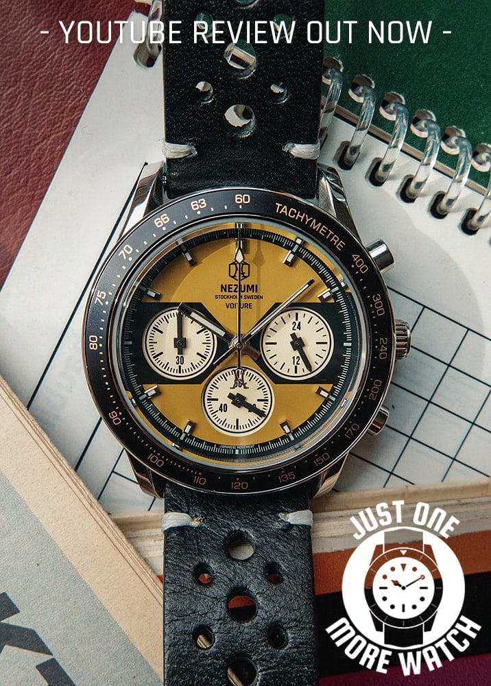 Voiture racing chronograph ref. VQ2. 501 watch review by Jody