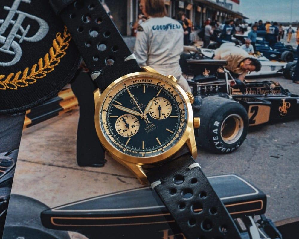 Nezumi Studios Loews Specials Watch Loews racing chronograph with leather strap