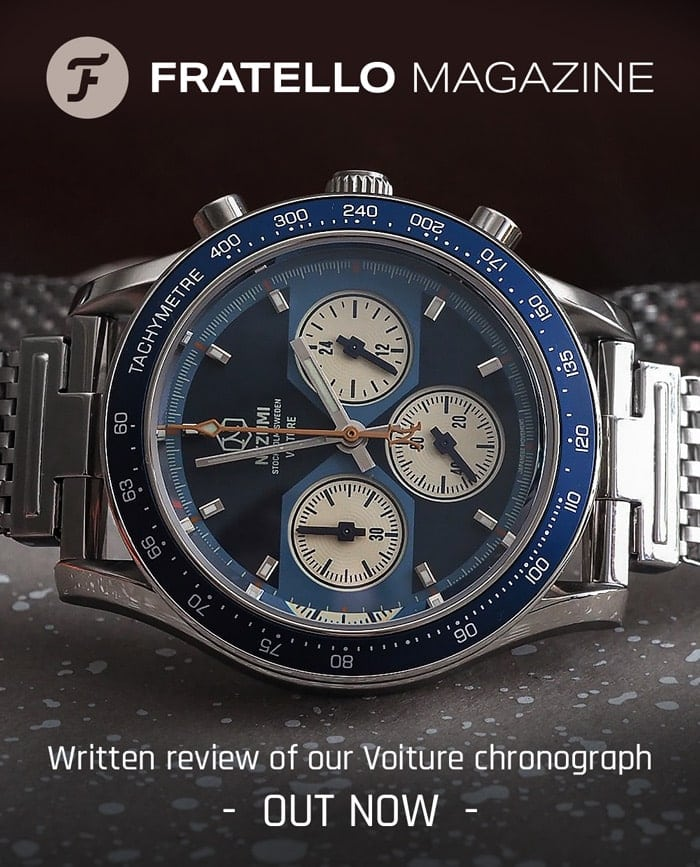 Voiture racing chronograph ref. VQ2. 501 watch review by Fratello