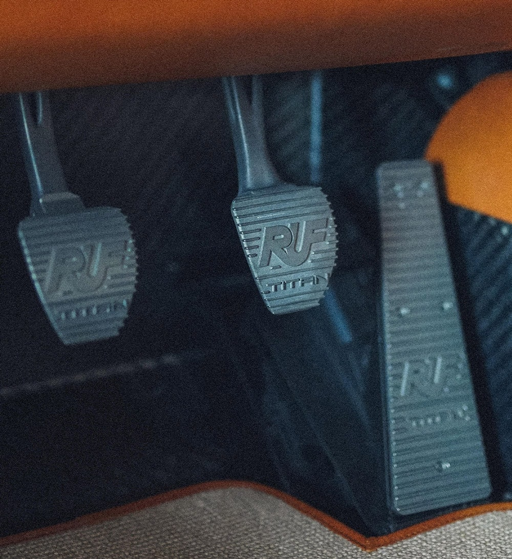 Porsche RUF pedals in titanium