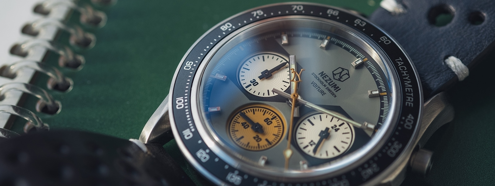 Voiture racing chronograph ref. VQ2. 702 watch by Nezumi Studios