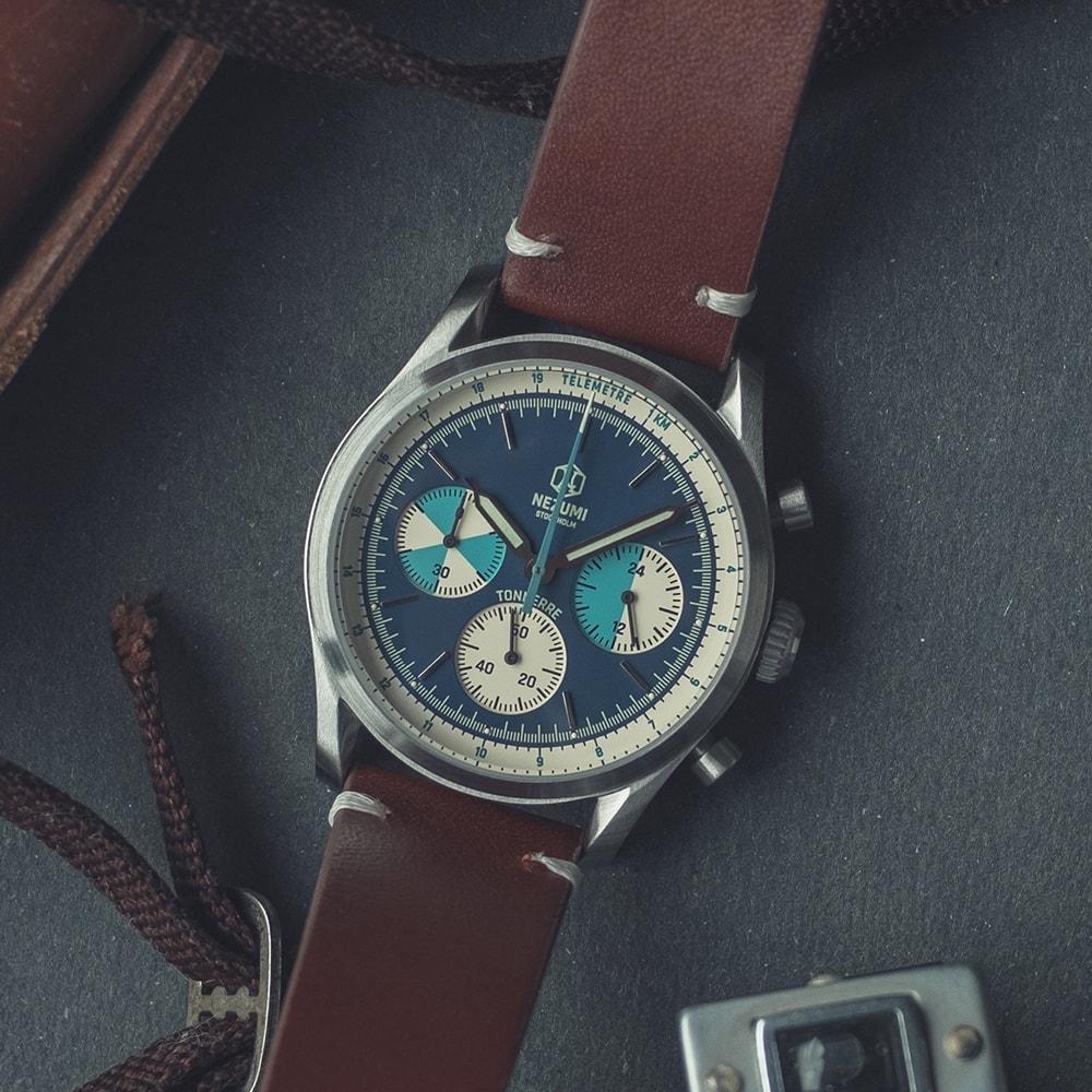 Blue Tonnerre chronograph 38mm